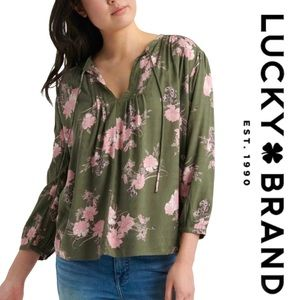 LUCKY BRAND • 3/4 sleeve blouse